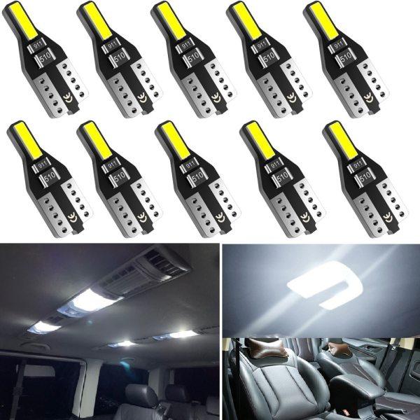 10PCS T10 W5W LED Car Interior Light 12V 168 194 Reading Lights For Audi A3 A4 B6 B8 A6 C6 80 B5 B7 A5 Q5 Q7 TT 8P 100 8L C7 8V