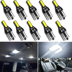 10PCS T10 W5W LED Car Interior Light 12V 168 194 Reading Lights For Audi A3 A4 B6 B8 A6 C6 80 B5 B7 A5 Q5 Q7 TT 8P 100 8L C7 8V
