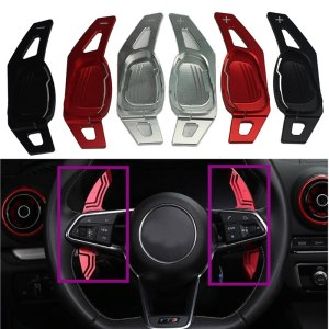 New For Audi S3/RS3 2015 2016 2017 Wheel Shift Paddle Shifters Extension In Car Steering Wheels&hubs Extension Decoration