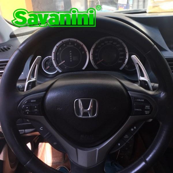 Savanini Aluminum Steering Wheel Shift Paddle Extension For Honda Spirior(2009-2013) and Acura(2009-2012) auto car styling