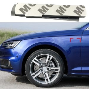 1-50 Pair For Sline Emblem Side Fender 3D Logo Sticker For Audi Q3 Q5 Q6 Q7 Allroad A4 A5 A6 A7 A8 B6 B7 B8 TT TTS Car Tuning