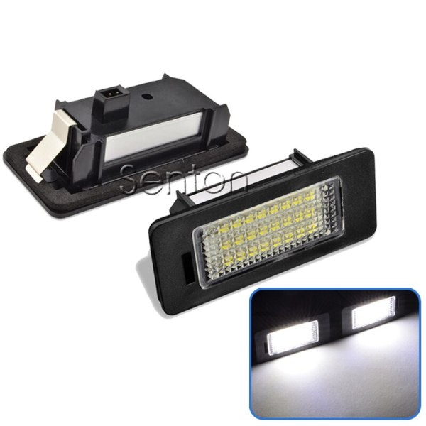 2pcs Car LED Number License Plate Light 12V 24 SMD3528 For Audi A4 B8 A5 S5 TT RS Volkswagen VW PASSAT 5D R36 Accessories
