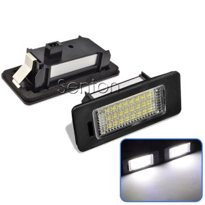 2pcs Car LED Number License Plate Light 12V 24 SMD3528 For Audi A4 B8 A5 S5 TT RS Volkswagen VW PASSAT 5D R36 Accessories