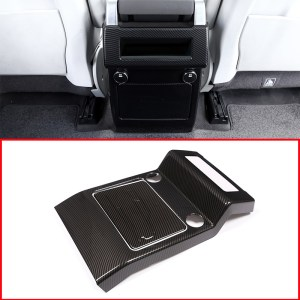 For Land rover Discovery 5 LR5 S/SE 2017-2018 Car-Styling Carbon Fiber Style Armrest Box Rear AC Outlet Vent Cover Trim Parts