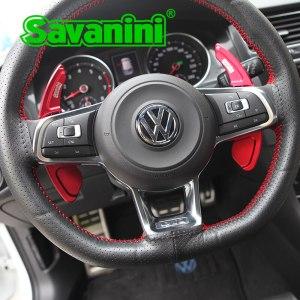 Savanini Steering Wheel Shift Paddle Extension For VW Golf 7 R GTI Scirocco Sagitar GLI MK7 Lamando GTS Auto Car styling