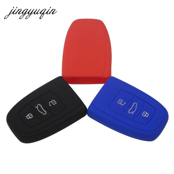 jingyuqin 10x Silicone Key Cover Case Protect for Audi B6 B7 B8 A4 A5 A6 A7 A8 Q5 Q7 R8 TT S5 S6 S7 S8 SQ5 RS5 smart keyless fob