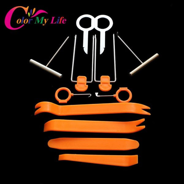 12pcs/set Disassembly Tool Car styling For Audi A4 B6 B7 B8 A3 A6 C5 Q7 A1 A5 A7 A8 Q2 Q3 Q7 Q5 R8 TT S3 S5 S6 S7 S8 SQ5