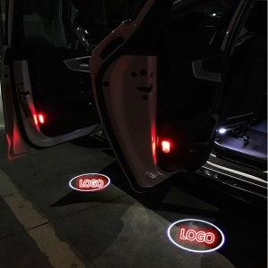 2X For Audi S5 A4 B5 B6 B7 B8 B9 C5 C6 A3 8V 8P 8L 80 200 90 C7 A5 A6 S3 S6 Q7 A1 quattro TT Led Car Door Welcome Logo Lights