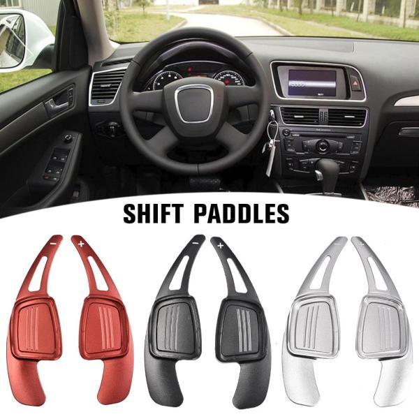 1 Pair Of Car Steering Wheel Shift Paddles Aluminum Shift Paddles Extension For Audi A3 A4L A5 S3 S4 Q2 Q5 Q7 TT TTS Accessories