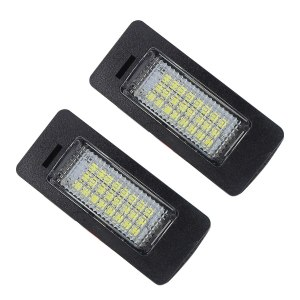 Pair CanBus Error Free Car LED License Plate Light Number-plate Signal Lamp for Audi A4 B8 A5 S5 Q5 for VW Passat 5D R36 2008