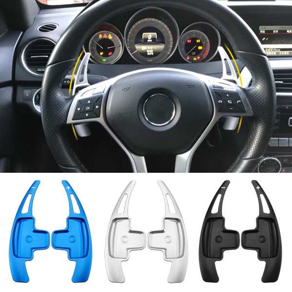 Aluminum Car Steering Wheel Shift Paddle Shifter Extension For Benz W176 W205 W212 W222 W246 C117 W218 X156