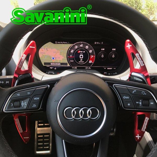 Savanini Aluminum Car Steering Wheel Shift Paddle Extension For New Audi R8(2016-2017),RS3(2017) TT RS(2016-2017) car styling