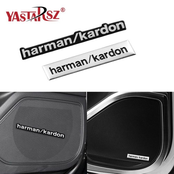 1X car-styling car audio decorate fit harman kardon For Audi A4 C5 B8 B7 C6 Q5 Q7 A3 B6 A6 C6 8P A7 Auto Accessories Car Styling