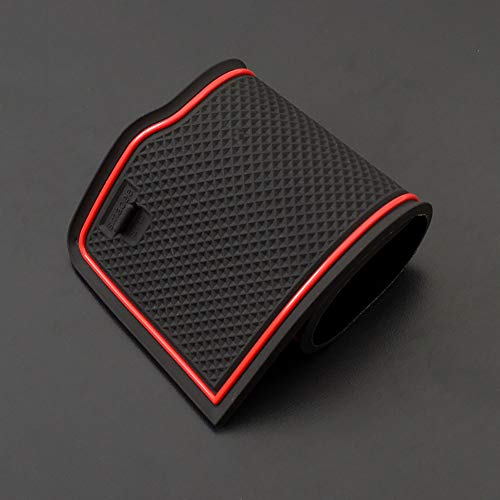 Dust-Proof Mats for VW Car Interior Accessories Custom Fit Door Liners ontto Dust-Proof Mats for VW Car Interior Accessories Custom Fit Door Liners Console Mats Cup Holder Pads Fit for Volkswagen Atlas Red