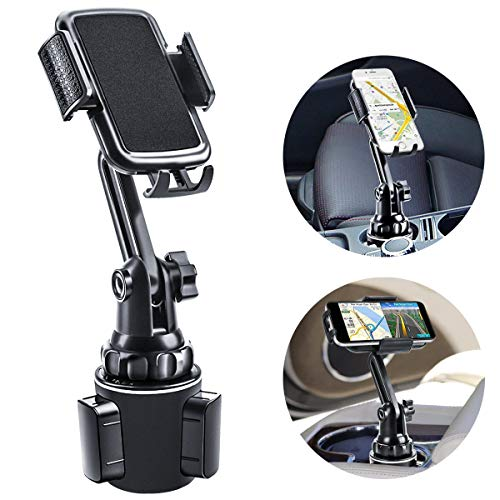 Car Cup Holder Phone Mount, Mikikin Cell Phone Holder Universal Adjustable Cup Holder Cradle Car Mount with Flexible Long Neck for iPhone 11 Pro/XR/XS Max/X/8/7 Plus/Samsung S10+/Note 9/S8 Plus/S7 Edg