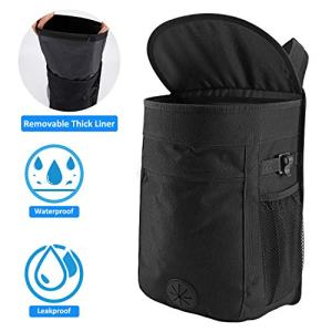 Cypropid Car Trash Can, 2.5 Gallon Capacity Storage Bag, Removable Leakproof Trash Can Liner, Easy to Wash and Use, Suit for Hanging in Your Car/Van/Truck/Auto/SUV