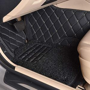 Auto warehouse 1st and 2nd Row 3pcs All-Weather Custom Fit Floor Mats for Ford Mustang / F150 SuperCab Dedicated Large/Full Surrounded by Car Mats Wire Ring Double Layer