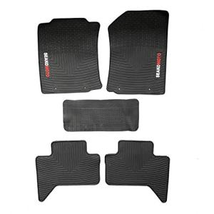 ITAILORMAKER Heavy Duty Latex Floor Mats Liner for Toyota Tacoma Double Cab TRD Pro 2012-2015, All Weather Guard Custom Rubber Mats Protection