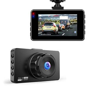 Dash Cam, Hexdeer Dash Camera Recorder FHD 1080P, Car Cam Vehicle DVR with 3 Inch LCD, 170° Wide Angle, Super Night Vision, WDR, G-Sensor, Loop Recording