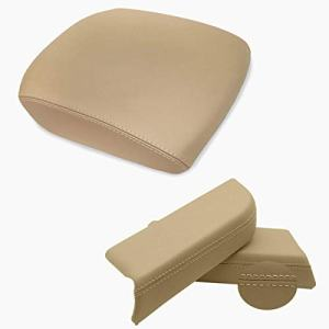 Dunhil Center Console Cover Front Door Armrest Replacement Kit Fits for 2009-2013 Honda Pilot (Beige)