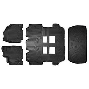 MAXLINER Floor Mats 3 Rows and Cargo Liner Set Black for 2011-2017 Honda Odyssey