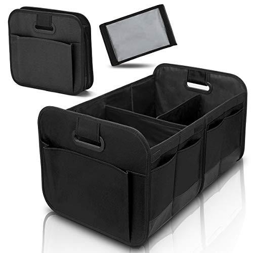 Car Trunk Organizer for SUV Truck - Auto Durable Collapsible Cargo Storage - Non Slip Bottom Strips to Prevent Sliding (Black) ......