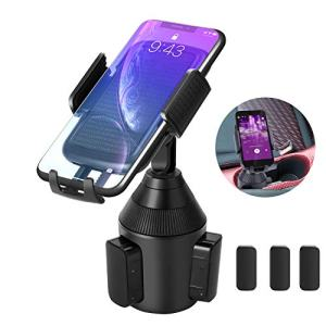 Car Cup Holder Phone Mount,Universal Smart Adjustable Automobile Cell Phone Mount for iPhone 11 pro/Xs/Max/X/XR/8/7/6 Plus Samsung Galaxy S10/S9/S8 Note 9 Nexus Sony/HTC/Huawei/LG/Smartphones
