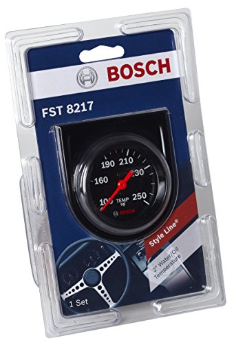 "Bosch Style Line 2"" Mechanical Water/Oil Temperature Gauge Bosch Style Line 2"" Mechanical Water/Oil Temperature Gauge (Black Dial Face, Black Bezel)"