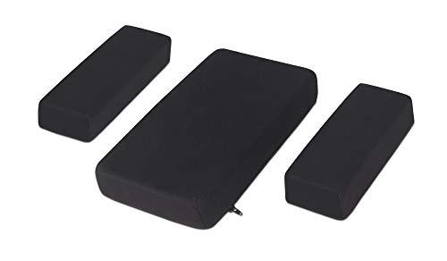 Milliard Foam Car Armrest Cushion Pads, Soft Plush Side and Center Consoles All Seasons Universal (Black)