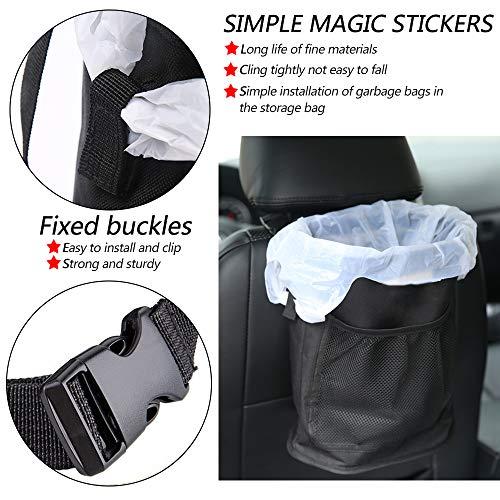 Qichebox Car Trash Can Hanging Trash Bin for Car Vehicle Garbage Bin Car Trash Can Options:
