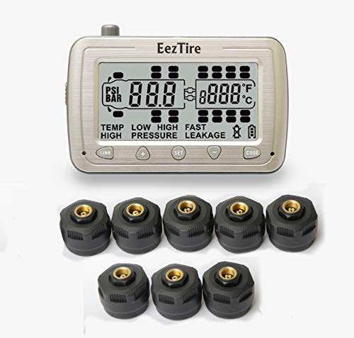 EEZTire-TPMS8 Real Time/24x7 Tire Pressure Monitoring System - 8 Anti-Theft Sensors, incl. 3-Year Warranty