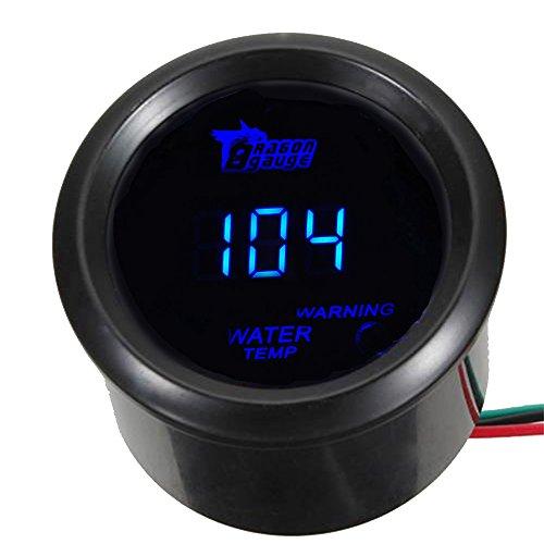 "ESUPPORT Car 2"" 52mm Digital Water Temp Gauge Blue LED Fahrenheit F"