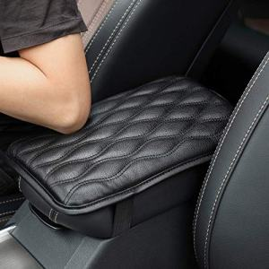 WeTest Premium Car Center Console Cover Armrest Pads for Most Vehicle,Car Waterproof Center Console Protector Cover (Black)