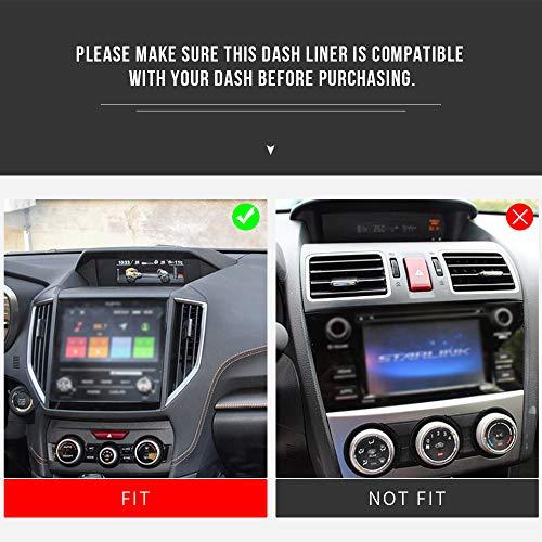 Auovo Dashboard Mats Car Dash Rubber Pad Liner for 2018-2020 Subaru Crosstrek Impreza 2019-2020 Forester Interior Accessories (1 pcs Red Trim Dashboard Mat)