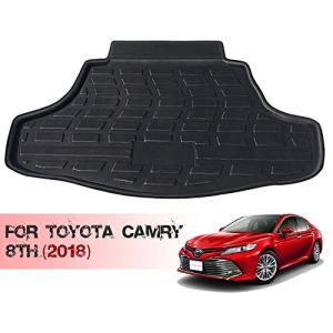 HZGrille Trunk Liner/Cargo Mat/Floor Mat for Trunk Modification of Camry 8th (for 2018), Waterproof Rubber Mats Provide All-Weather Protection