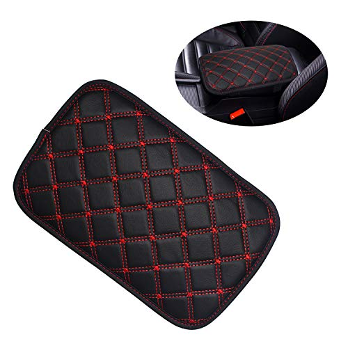 Monrand Center Console Armrest Pad, Universal Car Armrest Cover Fit for Most Vehicle, SUV, Truck Car Accessories (01)
