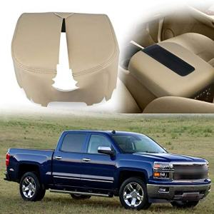 VANJING Center Console Cover Armrest Cover for 2007-2013 Chevy Avalanche Silverado Tahoe Suburban GMC Yukon Yukon XL Sierra(Leather Part Only)