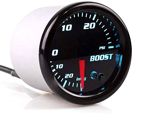 Boost/Vacuum Gauge Kit 30 PSI Tinted 7 Color - Includes Mechanical Hose & T-Fitting That includes 7 Stable Color Modes and a pair of Color Cycle Modes, This Gauge will Let You Match Your Manufacturing facility Sprint Lights or Add Your Personal Private Type to the Inside of Your Car.