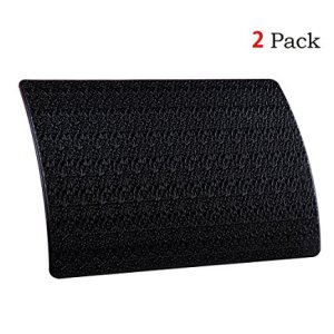"(Pack of 2) Extra Thick Sticky Anti-Slip Gel Pad, Mini-Factory Premium Universal Non-Slip Dashboard Mat for Cell Phones, Sunglasses, Keys, Coins and More - Black (Medium Size: 6.5"" X 4.5"")"