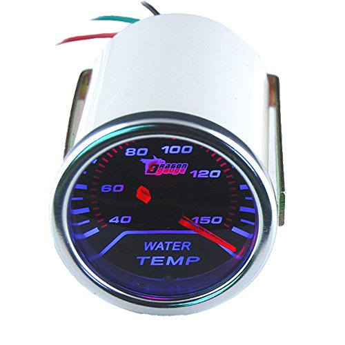 "ESUPPORT Car 2"" 52mm Water Temp Gauge Meter Temperature Light"