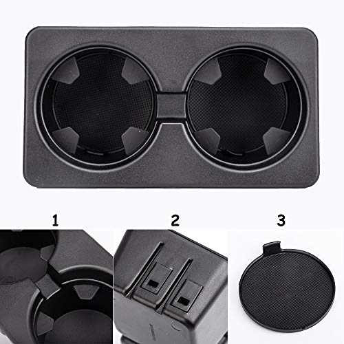 Cup Holder Insert For Compatible with 2007-2013 Silverado Sierra Sushiyi Premium Auto Replacement Dual Cup Holder Insert.