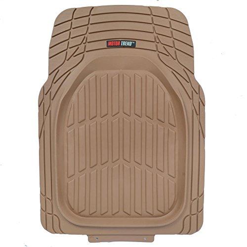 Liners-Deep Dish Heavy Duty Rubber Floor Mats for Car SUV Truck Motor Trend MT-923-BG Tan Beige FlexTough Contour Liners-Deep Dish Heavy Duty Rubber Floor Mats for Car SUV Truck & Van-All Weather Protection