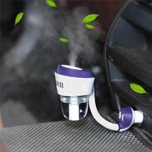 Car air Freshener Purifier Car Air Humidifier Aroma Oil Diffuser Car Air Purifiers with Dual USB 12V Car Charger
