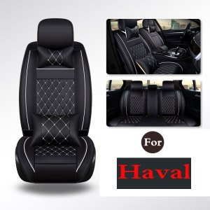 Leather Car Seat Covers Solid Gray Fit Driver For Haval H1 H2 H3