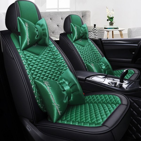 Full Coverage PU Leather car seat cover flax fiber
