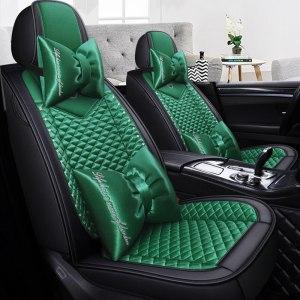 Full Coverage PU Leather car seat cover flax fiber