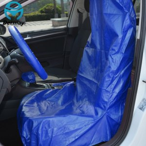 CAR SEAT PROTECTOR COVERS Black Blue Washable PU Leather
