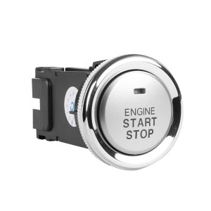 Start button engine start passive keyless entry car alarm system