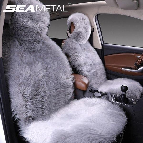 Auto Seat Cover Plush Cushion Car Seat Covers Set