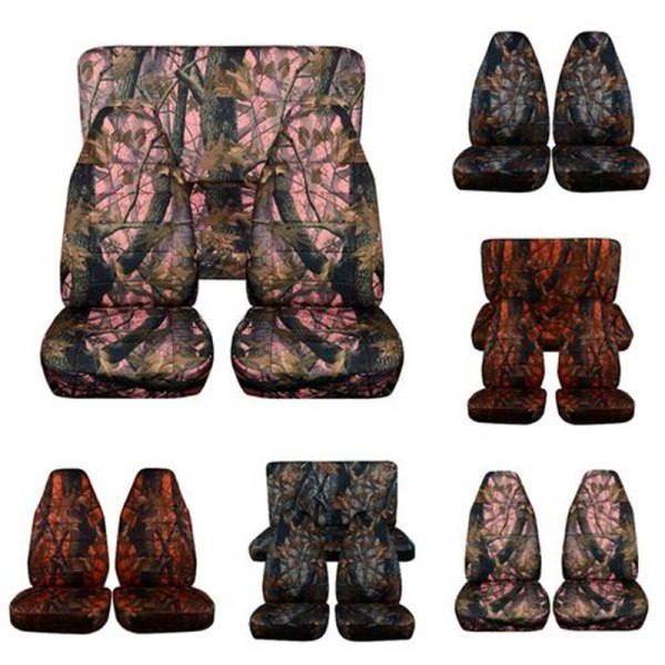 Hunting Camouflage Car Seat Cover Front Rear
